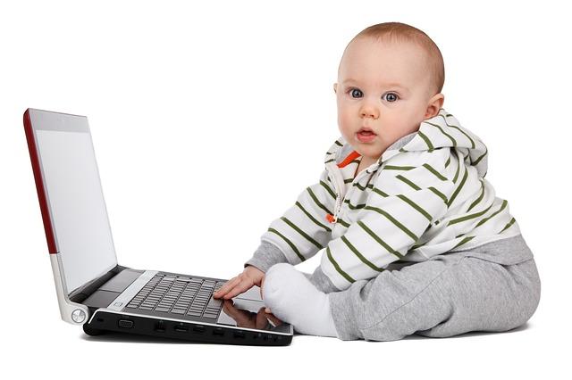 vaikas kompiuteris