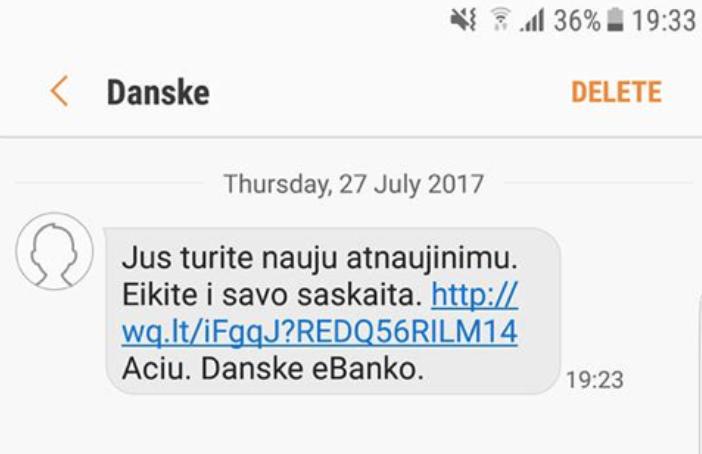 Dėmesio: plinta apgaulingos SMS žinutės