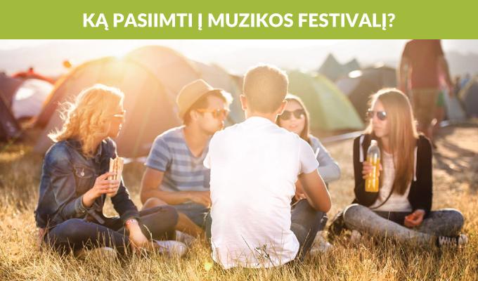 Kokius įrenginius pasiimti vykstant į muzikos festivalį?