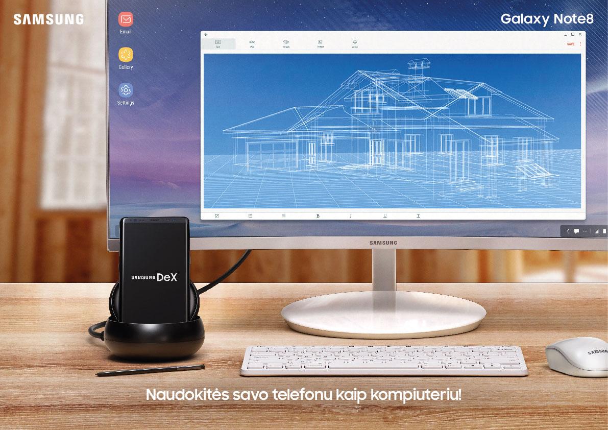 """Pasauliui pristatytas naujasis """"Samsung Galaxy Note8"""""""