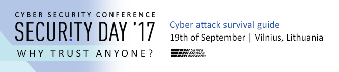 """Konferencijoje """"Security Day'2017"""" - naujausi kovos prieš kibernetines atakas būdai"""
