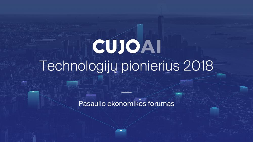 """Lietuvių dirbtinio intelekto platforma """"CUJO AI"""" įvertinta Pasaulio ekonomikos forume"""