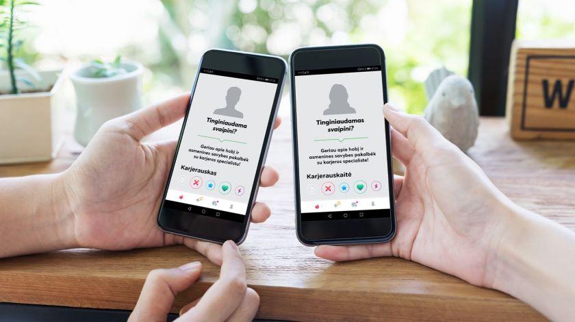 """Kandidatų """"medžioklė"""" pažinčių programėlėje """"Tinder"""": 900 kontaktų per savaitę ir 25 darbo pokalbiai"""